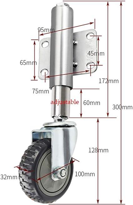 Retrattile 30MM // 60MM Ruota per smorzamento cancello Ruota Elastica silenziosa Pressione Ammortizzante 5 Stili Ruote Resistenti allUsura Ruota Universale Ammortizzatore