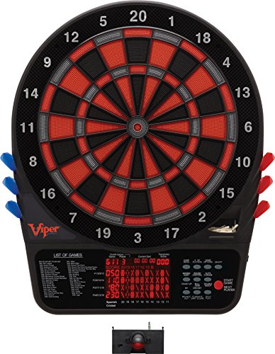 (Viper 800 Electronic Soft Tip Dartboard Bundle with LaserLite Laser Throw/Toe Line Marker)