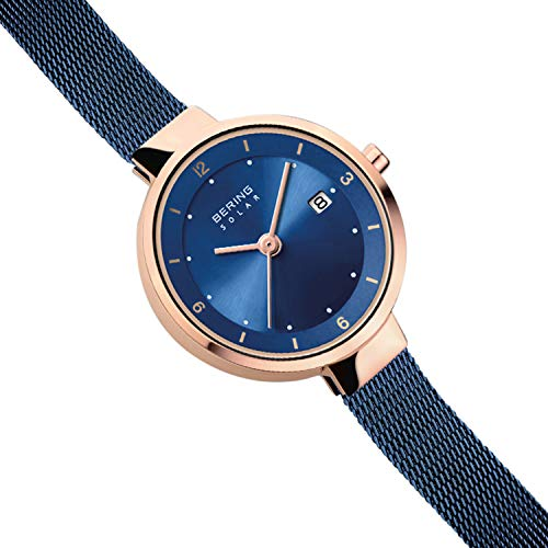 BERING Time 14426-367 Watch Women Solar Collection with Stainless-Steel Strap and Highly Scratch-Resistant Sapphire Crystal. Designed in Denmark