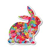 Bunny Sticker Watercolor Paint Stickers - Laptop Stickers - 2.5' Vinyl Decal - Laptop, Phone, Tablet Vinyl Decal Sticker S1230