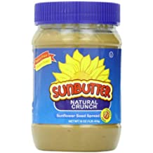 SunButter Natural Crunch Sunflower Seed Spread, 16-Ounce Plastic Jars (Pack of 6)