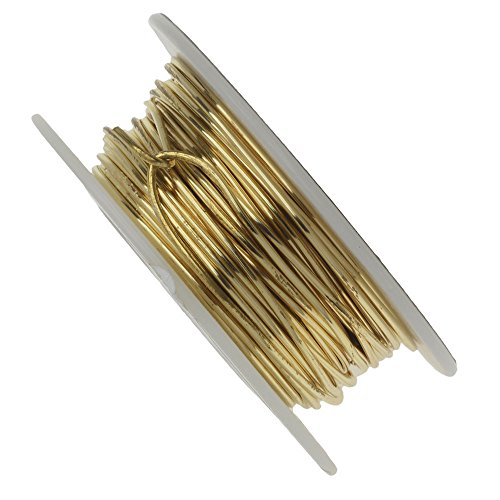 Vintaj Parawire, Solid Brass Craft Wire 18 Gauge Thick, 30 Foot Spool, Brass Solid Brass Wire
