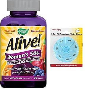 50 gomoso multi-vitaminas masticables vivos de las mujeres, cuenta 75 con gratis 7