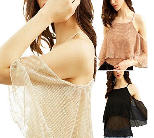 Epaule Femme Court T Nue Shirt Top YiyiLai pOgw11