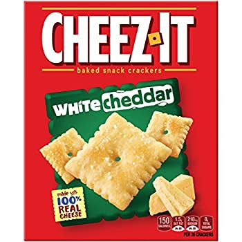 Cheez-it Baked Snack Cheese Crackers, White Cheddar, 7 Oz Box 1