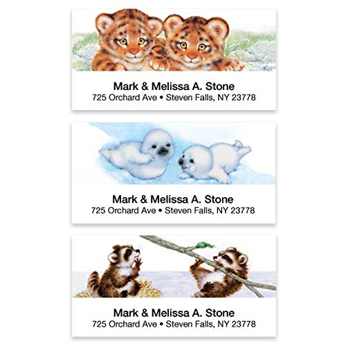 (Baby Animals Assorted Sheeted Address Labels)