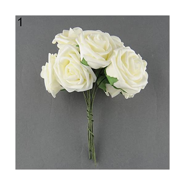 10-Pcs-Artificial-Fake-PE-Rose-Flower-DIY-Bridal-Wedding-Home-Party-Decoration-Ameesi