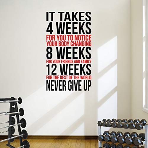 DesignDivil Inspiring Weightloss Wall Decal Perfect for Gyms Health & Fitness Centres. Colour Choices Available!