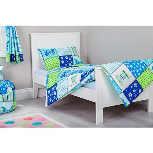 Ready Steady Bed Butterfly Design Children's Cot Bed Junior Toddler Size Duvet Cover Set 120cm x 150cm with Pillowcase