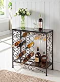 Cheap Kings Brand Furniture Metal With Marble Finish Top Console Table With Wine Rack