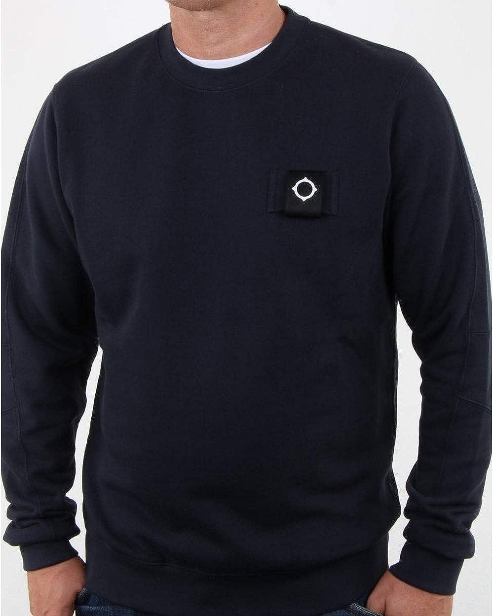 Ma.Strum - MA Strum-Pullover in Marineblau Kohlenstoffblau
