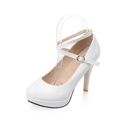 AdeeSu Sandales Compensées Femme Blanc, 38.5 EU, SDC03714