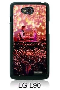Disney Tangled Black Abstract Custom Design LG L90 Protective Phone Case