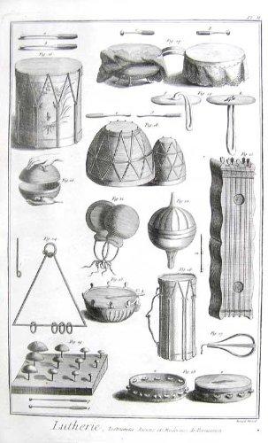 Lutherie, Instrumens Acniens et Modernes de Percussion, Pl. II
