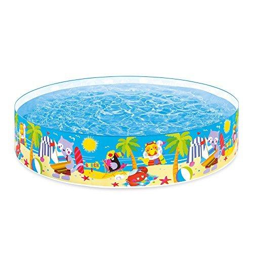 Intex Seahorse Buddies Kids 8 Foot x 18 Inch Instant Kiddie Water SnapSet Swimming Pool by Intex