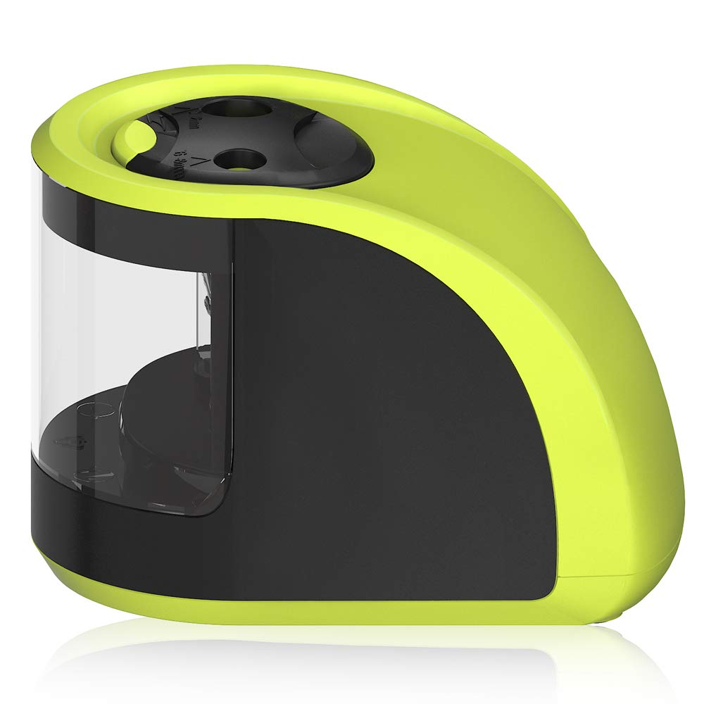 Pencil Sharpener UrBen Electric Automatic Pencil Sharpener with Double Holes and Replaceable Blades, Battery operated, Cordless and Portable for School Classroom, Home Study, Office Use