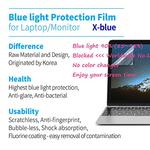 X-blue, 27'' 16:9 Screen, Highest Blue Light Protection Film, Anti Blue Light Screen Protector, Notebook Computer, Anti-Glare, Anti-Bacterial, Anti-Scratch, Easiest to Install by X-blue (Image #7)