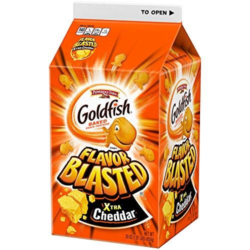 Pepperidge Farm, Goldfish, Flavor Blasted, Crackers, Xtra Cheddar, 30 oz., Carton, 6-count