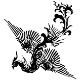 GGSELL Extra large size A4 size 8.3 x 11.7 inches waterproof Phoenix temporary tattoos by King Horse