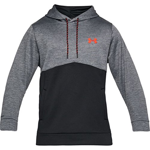 Under Armour Men's Storm Af Twist Hoodie, Rhino Gray (076)/Neon Coral, Medium by Under Armour (Image #1)
