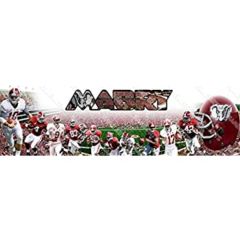 Personalized//Customized Alabama Crimson Tide Name Poster Wall Art Banner