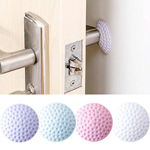 Honeycomb Egg Knob - Hot Sale!DEESEE(TM)Door Doorknob Back Wall Protector Savor Shockproof Crash Pad (Purple)