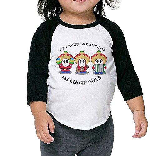LiZizz Boy's & Girl's Super Mario Shy Guy 3/4 Sleeve Raglan T-Shirts