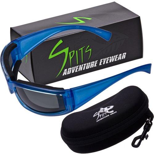 MAKAI SUP Floating Paddleboard Sunglasses - Neoprene Crystal Blue Foam Frame - Grey POLARIZED - Caribbean Eyewear Sun