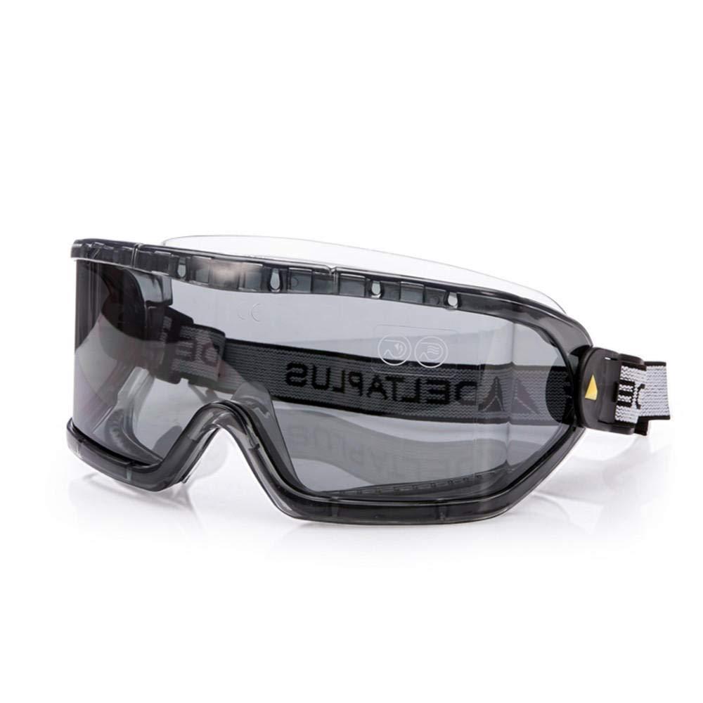 NJZYB Gafas Protectoras, Antivirus, Antisaliva, Multifunción, Unisex Gafas De Seguridad Lentes grises