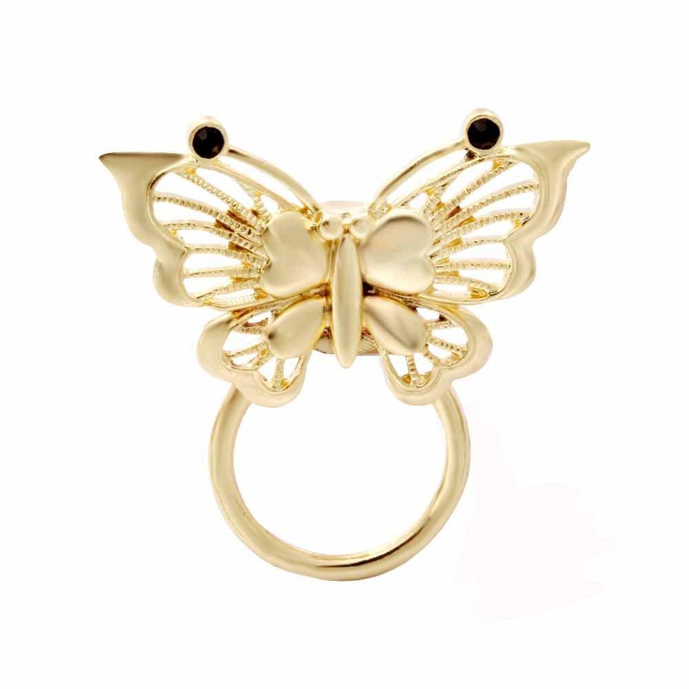 NOUMANDA Gold Butterfly Magnetic Eyeglass Pin Brooch Glasses Spectacles Sunglasses Holder for Women