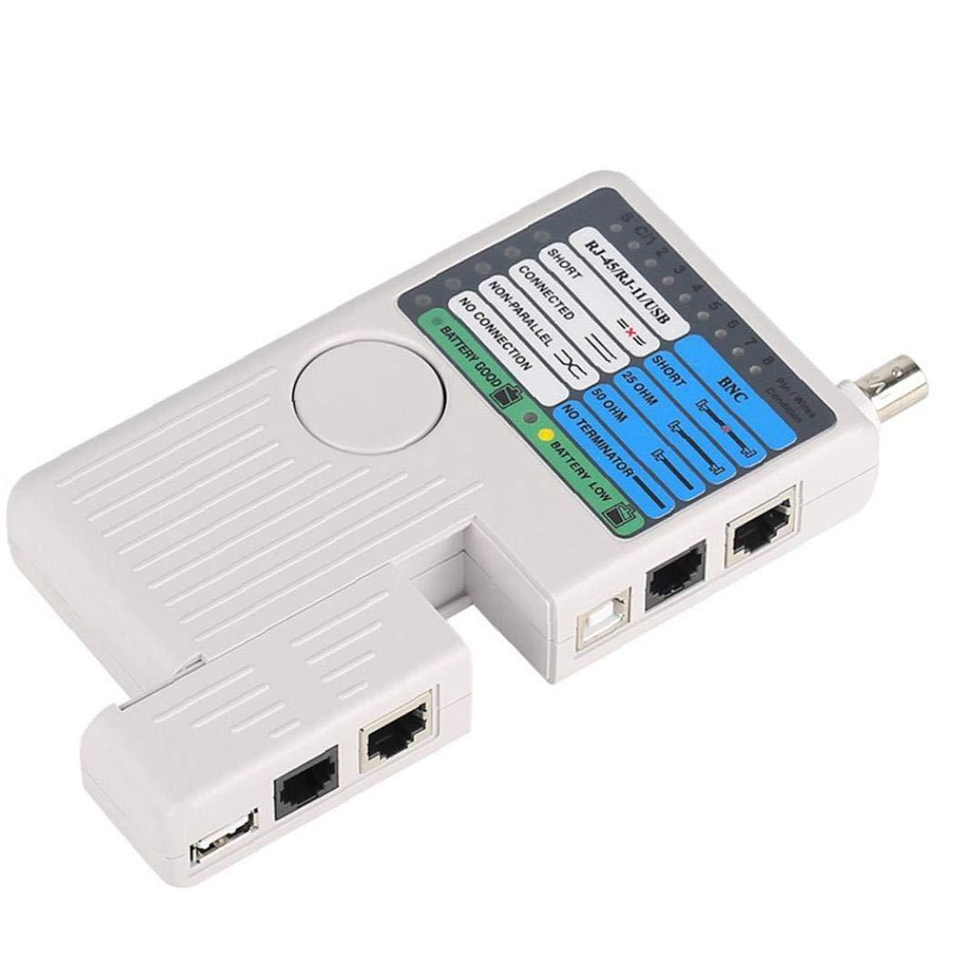 Remote Network-Telefon-Kabel-Tester 4 in 1 Multifunktions Line-Me/ßger/ät f/ür RJ11 RJ45 USB BNC LAN