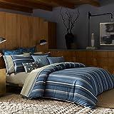 Azur Stripe Azur Stripe King Comforter Set in Indigo (KING)