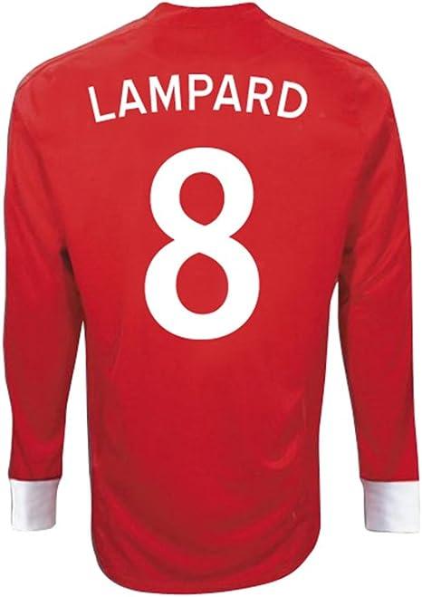 Umbro Lampard # 8 Inglaterra Away camiseta de manga larga ...
