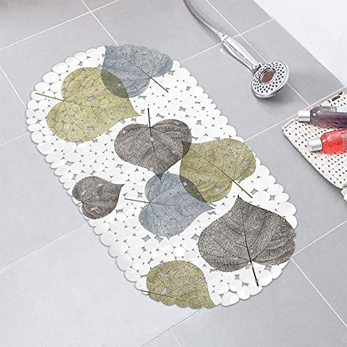 Leaves Extra Long Shower Bath Tub Mat Large Non-Slip Bathtub Mat Antibacterial Non Skid Tksale from Unknown