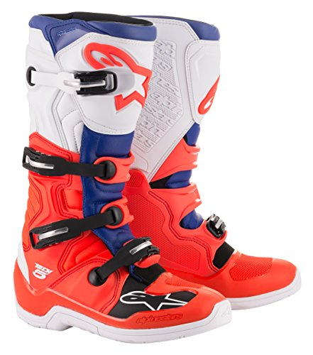 Tech 5 Off-Road Motocross Boot (9 US, Red Fluo Blue White)