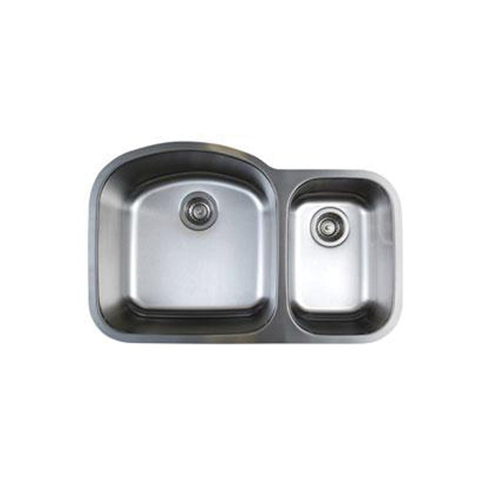 Blanco BL441022 Stellar 1.6 Bowl Undermount Sink, Refined Brushed
