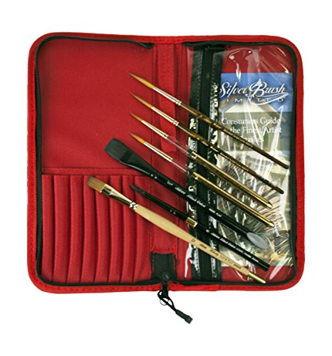Silver Brush Tom Lynch Plein Air Travel 8 Piece Brush Set by Silver Brush