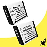 Two Halcyon 1400 mAH Lithium Ion Replacement Battery for Pentax Q7 Compact Mirrorless Camera and Pentax D-LI68
