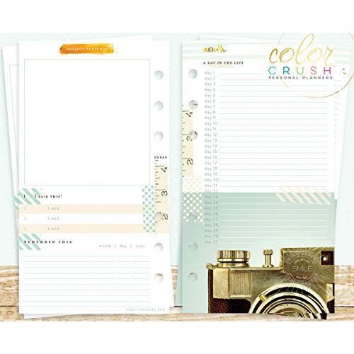 Color Crush A2 Personal Planner Inserts -Memory Keeping