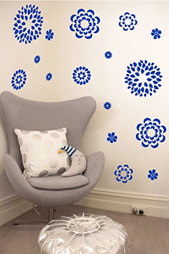 Flower Pattern Wall Decal - Removable DIY Vinyl Sticker Girls