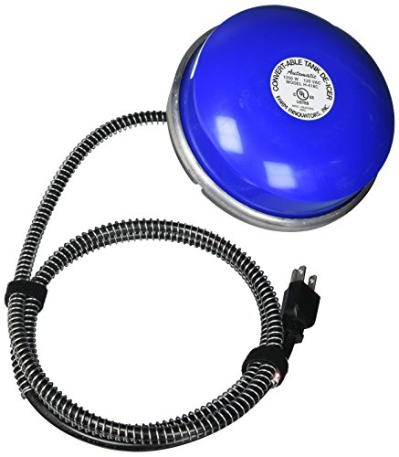 - Farm Innovators Model H-418C 2-In-1 Cast Aluminum Convert-Able Plastic Tank De-Icer, 1,250-Watt