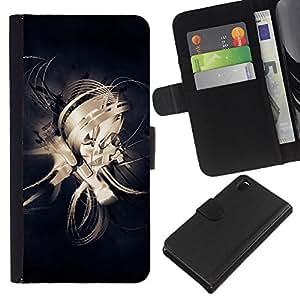 Ihec-Tech / Flip PU Cuero Cover Case para Sony Xperia Z3 D6603 / D6633 / D6643 / D6653 / D6616 - Design Abstract Lines
