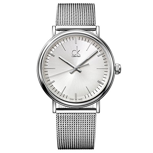 Calvin Klein Men's 'Surround' Swiss Quartz Stainless Steel Casual Watch, Color:Silver-Toned (Model: K3W21126)