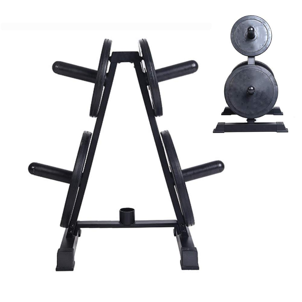 Squat Rack Weight Plate Tree Frame Barbell Rack Combination Fitness Machine Round Tube 5 Bar Can Store Barbell Piece