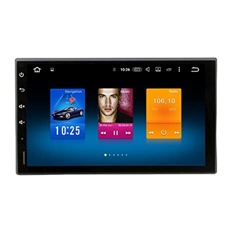 Dasaita 7 Inch Android 8 0 Universal Double Din Car Stereo (4G RAM+32G ROM)  Octa-Core PX5 Chip Size 176 101 Pure Touch Screen Stereo (7