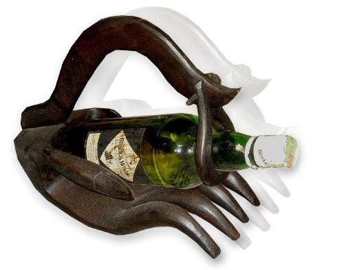 Buddha hand Wine bottle holders (Black) by Thai Handcraft GB