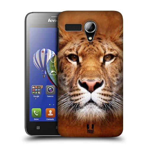 Head Case Designs Siberian Liger Animal Faces Protective Snap-on Hard Back Case Cover for Lenovo A606