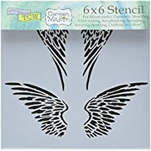 "Bible Journaling Stencil - Angel Wings (6"" X 6"")"