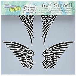 Bible Journaling Stencil - Angel Wings (6\