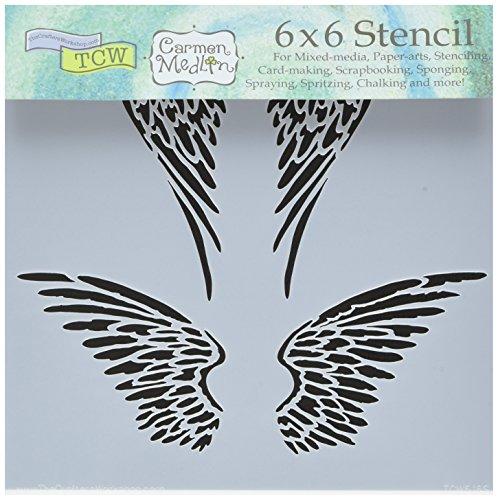 Bible Journaling Stencil - Angel Wings (6